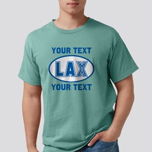 Lacrosse Oval LAX KYBlue Mens Comfort Colors Shirt