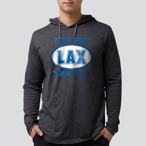 Lacrosse Oval LAX KYBlue Pers Mens Hooded Shirt