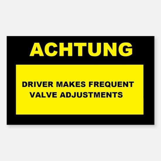 ACHTUNG Sticker (Rectangle)