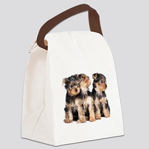 Yorkie Puppies Canvas Lunch Bag