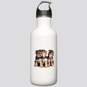 Yorkie Puppies Stainless Water Bottle 1.0L