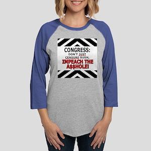 W-impeachassholeTS1 Womens Baseball Tee
