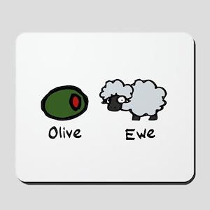 Olive Ewe Mousepad