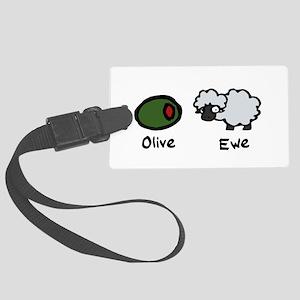 Olive Ewe Large Luggage Tag
