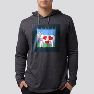 cowVALENTINE Mens Hooded Shirt