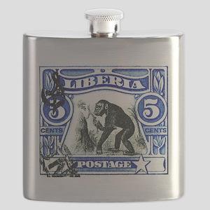 1906 Liberia Chimpanzee Postage Stamp Flask