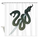 Katana Snake Shower Curtain