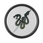 Katana Snake Large Wall Clock