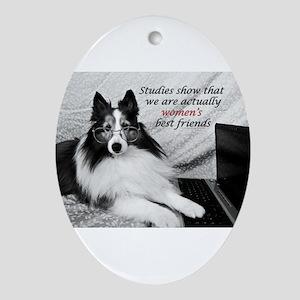 Woman's Best Friend Ornament (Oval)