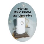 Friends Made Round the Campfire Ornament (Oval)