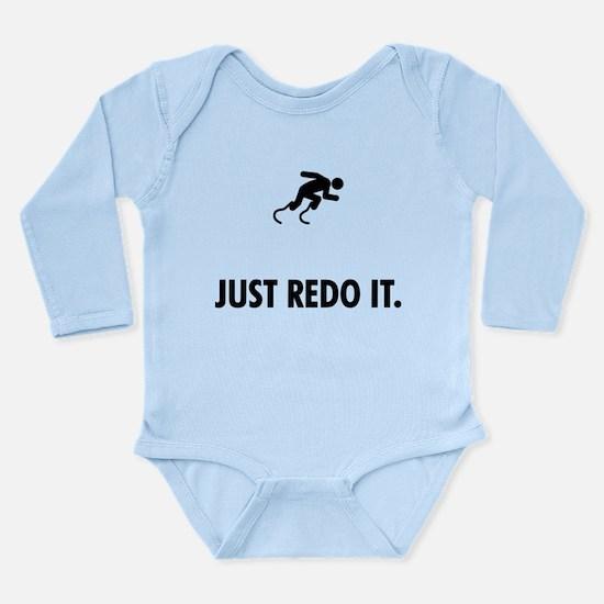 Physically Challenged Runner Long Sleeve Infant Bo
