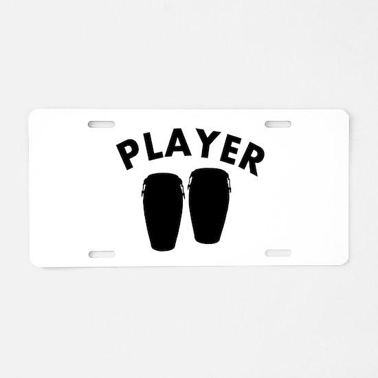Bongos player design Aluminum License Plate