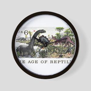 1970 U.S. Dinosaurs Postage Stamp Wall Clock