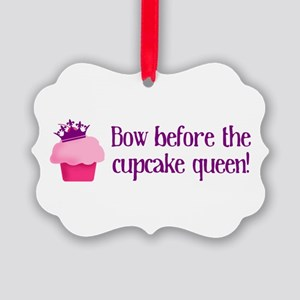 Queen Cupcake Picture Ornament
