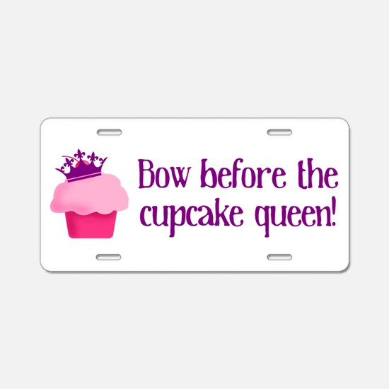 Queen Cupcake Aluminum License Plate