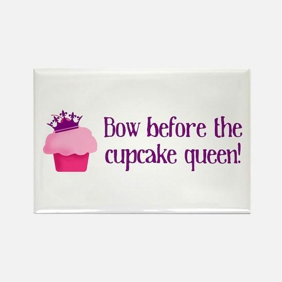 Queen Cupcake Rectangle Magnet