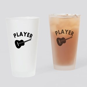 Guitar player design Drinking Glass