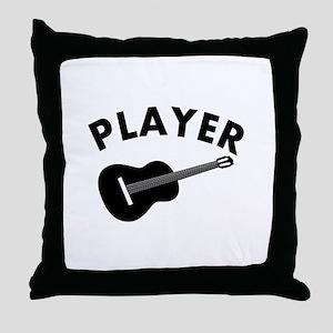 Guitar player design Throw Pillow