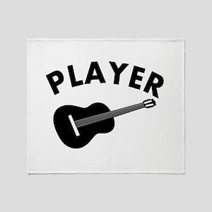 Guitar player design Throw Blanket