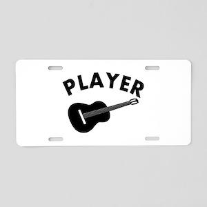 Guitar player design Aluminum License Plate