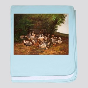 Lazy Day for Geese baby blanket