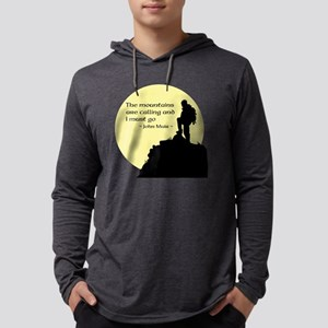 Mountains Calling Mens Hooded Shirt