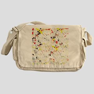 Paint Splatter Messenger Bag