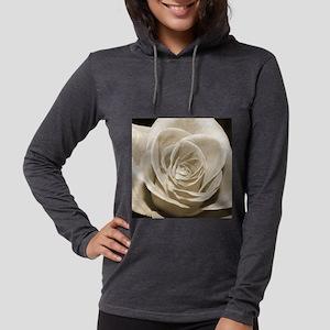 Sepia Rose Womens Hooded Shirt