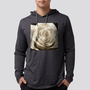 Sepia Rose Mens Hooded Shirt