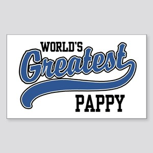 World's Greatest Pappy Sticker (Rectangle)