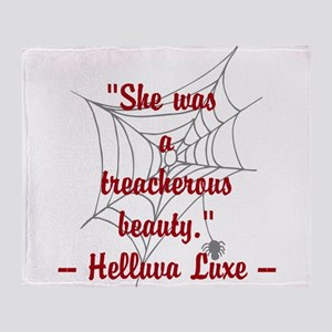 Nicks treacherous beauty quote Throw Blanket
