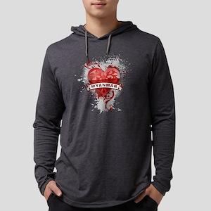 heartMyanmar2 Mens Hooded Shirt