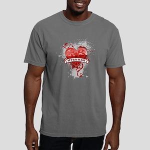 heartMyanmar2 Mens Comfort Colors Shirt