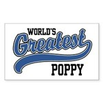 World's Greatest Poppy Sticker (Rectangle)
