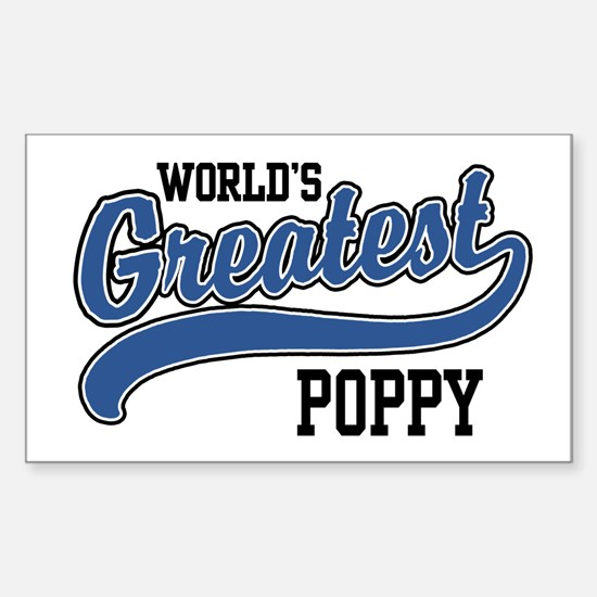 World's Greatest Poppy Sticker (Rectangle)
