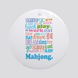 Mahjong Ornament (Round)