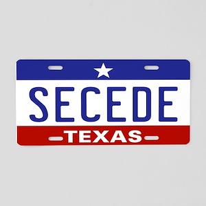 Secede - TEXAS! Aluminum License Plate