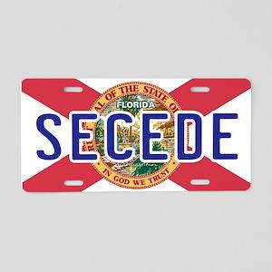 Secede - FLORIDA Aluminum License Plate