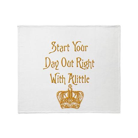Alittle Crown Throw Blanket