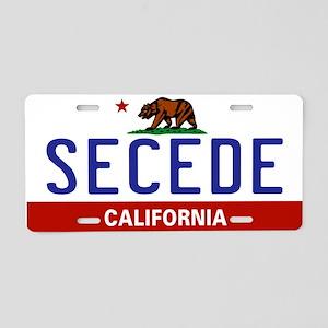 Secede - CALIFORNIA Aluminum License Plate