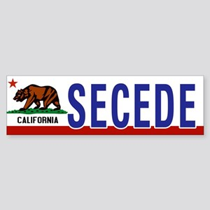 Secede - CALIFORNIA Sticker (Bumper)