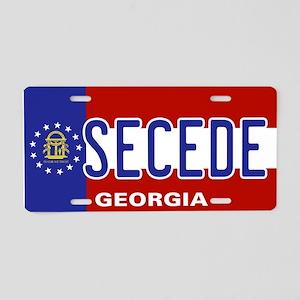 Secede - GEORGIA Aluminum License Plate