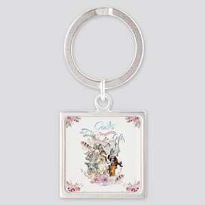 Goats are God's Precious Gifts Keychains
