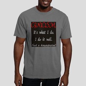 gigglesnips__black_cynic Mens Comfort Colors Shirt