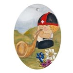Alphorn Sepp Oval Ornament