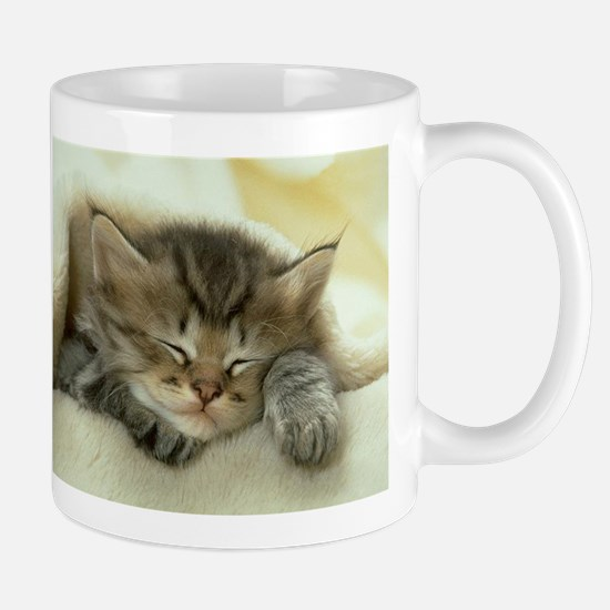 sleeping kitty Mug