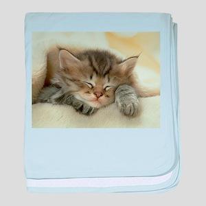 sleeping kitty baby blanket