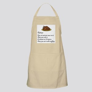 Thanksgiving Recipe BBQ Apron