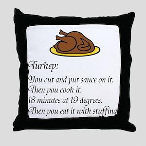 Thanksgiving Recipe Throw Pillow