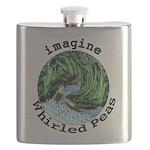 Imagine Whirled Peas Flask
